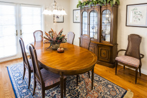 Beautiful formal dining room with hardwood floors