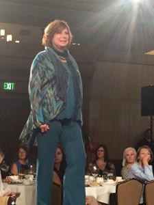 Susan Clark modeling Ericka Engelman Couture