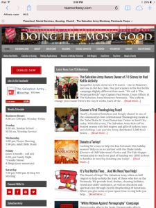 Salvation Army Web site