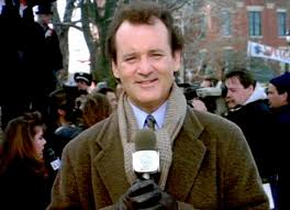 "Bill Murray as he appeared in the movie ""Groundhog Day"""