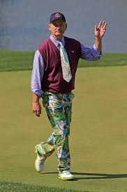 Bill Murray clowning around at a past AT&T Pro Am Tournament.