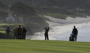 AT&T Pro Am Golf Tournament ~ Pebble Beach Golf Links over looking Carmel Beach