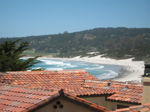 Roof top view of Carmel Beach