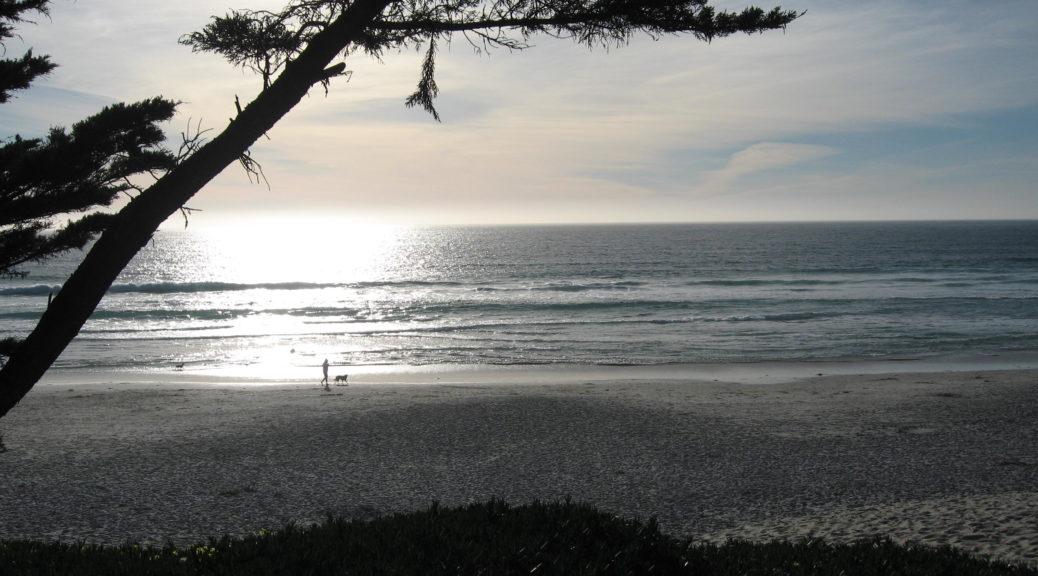 Walking Carmel Beach at dusk
