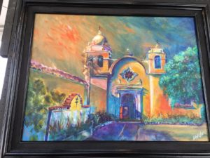 Painting of the Carmel Mission by Julie Khyler
