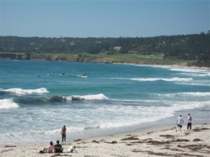 Surfers on Carmel Beach