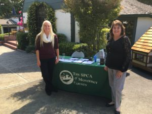 SPCA event chair (on right) and a volunteer