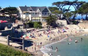 Lover's Point Beach in Pacific Grove