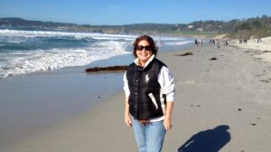 Susan on Carmel Beach