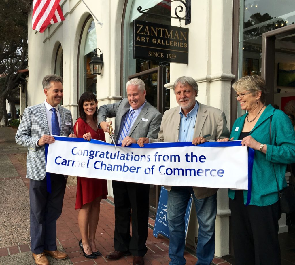 Cutting the ribbon! Another successful ribbon cutting for the Carmel Chamber.
