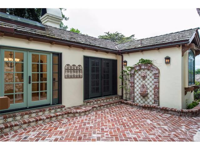 European inspired brick patio