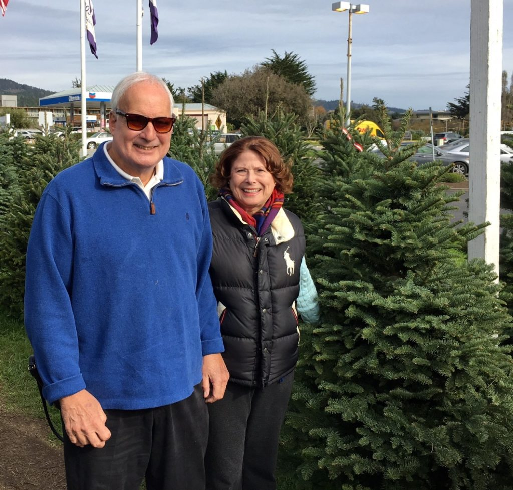 Picking out the Noble Fir Christmas tree in Carmel.